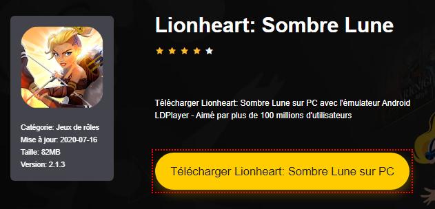 Installer Lionheart: Sombre Lune sur PC