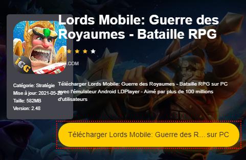 Installer Lords Mobile: Guerre des Royaumes - Bataille RPG sur PC