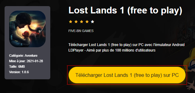 Installer Lost Lands 1 (free to play) sur PC