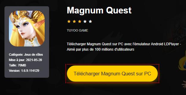 Installer Magnum Quest sur PC