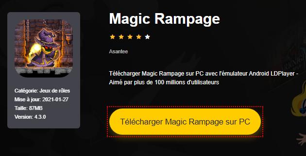 Installer Magic Rampage sur PC