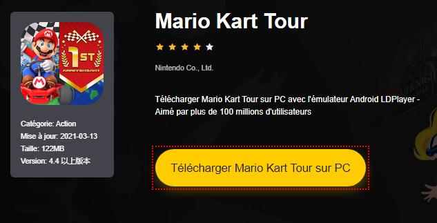 Installer Mario Kart Tour sur PC