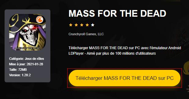 Installer MASS FOR THE DEAD sur PC