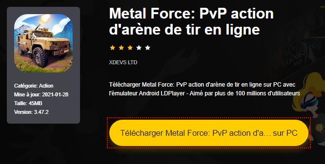 Installer Metal Force: PvP action d'arène de tir en ligne sur PC