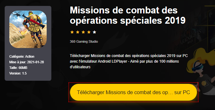Installer Missions de combat des opérations spéciales 2019 sur PC