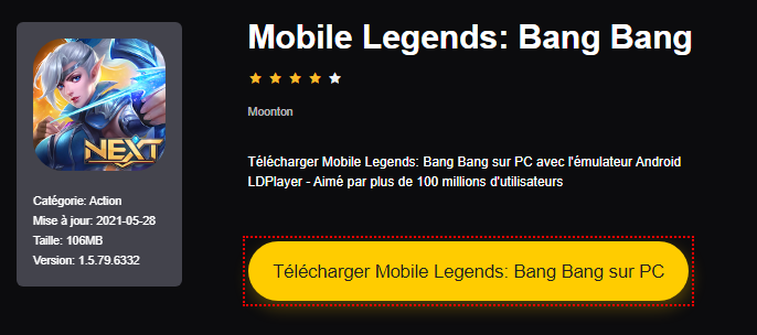 Installer Mobile Legends: Bang Bang sur PC