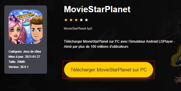 Installer MovieStarPlanet sur PC