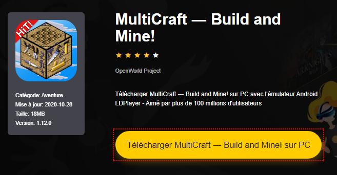 Installer MultiCraft ― Build and Mine! sur PC