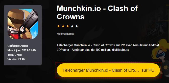 Installer Munchkin.io - Clash of Crowns sur PC