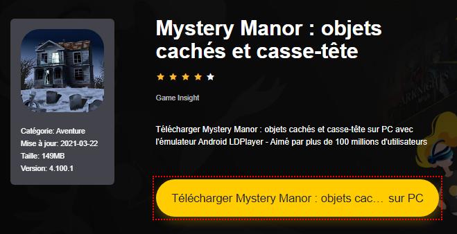 Installer Mystery Manor : objets cachés et casse-tête sur PC