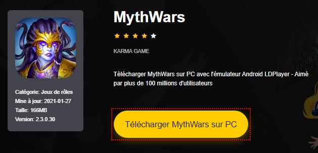 Installer MythWars sur PC