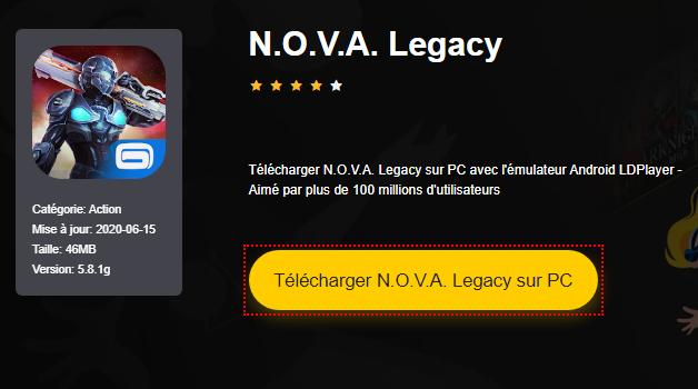 Installer N.O.V.A. Legacy sur PC