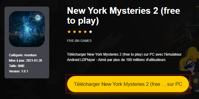 Installer New York Mysteries 2 (free to play) sur PC
