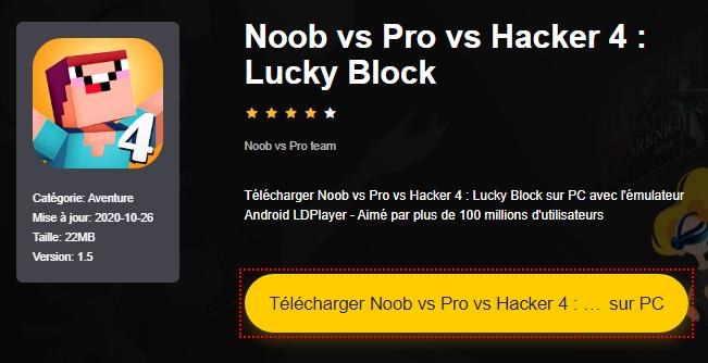 Installer Noob vs Pro vs Hacker 4 : Lucky Block sur PC