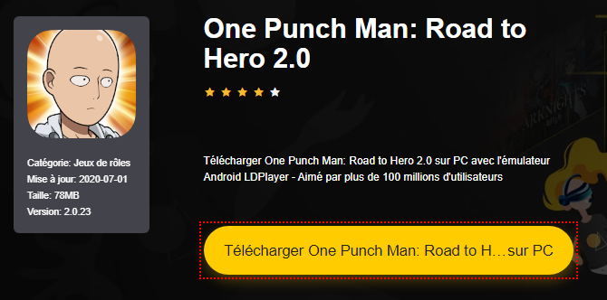Installer One Punch Man: Road to Hero 2.0 sur PC