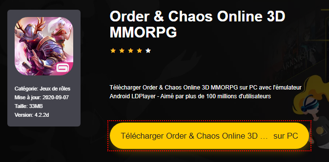 Installer Order & Chaos Online 3D MMORPG sur PC
