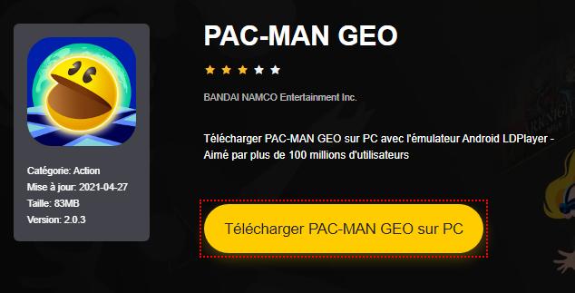 Installer PAC-MAN GEO sur PC