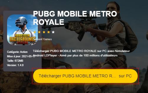 Installer PUBG MOBILE sur PC