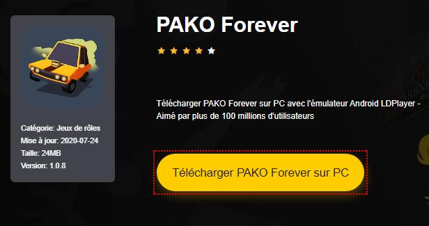 Installer PAKO Forever sur PC