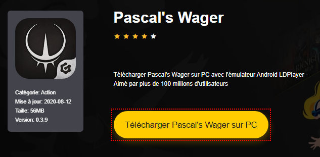 Installer Pascal's Wager sur PC