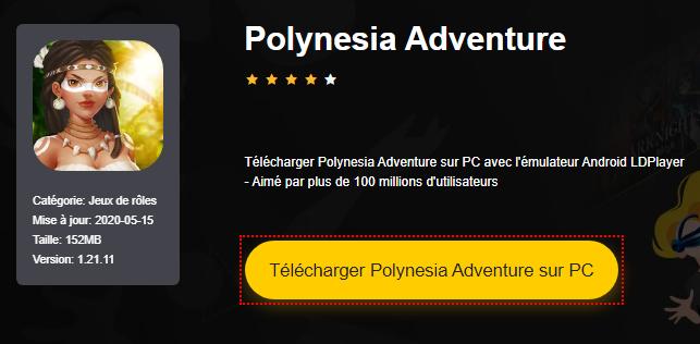 Installer Polynesia Adventure sur PC