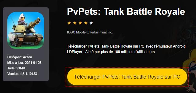Installer PvPets: Tank Battle Royale sur PC