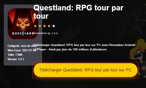 Installer Questland: RPG tour par tour sur PC