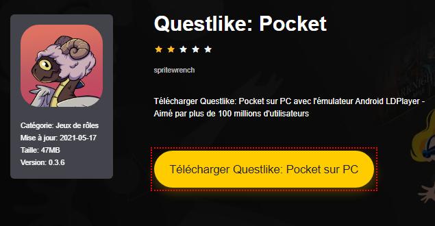 Installer Questlike: Pocket sur PC