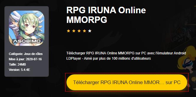 Installer RPG IRUNA Online MMORPG sur PC