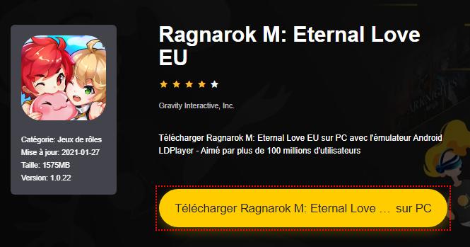 Installer Ragnarok M: Eternal Love EU sur PC