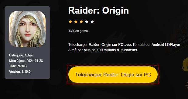 Installer Raider: Origin sur PC