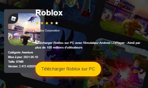 Installer Roblox sur PC