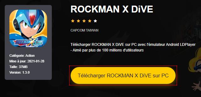 Installer ROCKMAN X DiVE sur PC