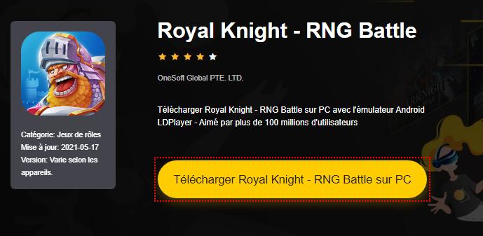 Installer Royal Knight - RNG Battle sur PC