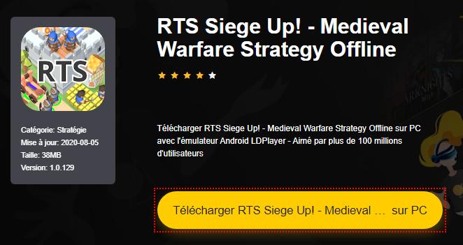 Installer RTS Siege Up! - Medieval Warfare Strategy Offline sur PC