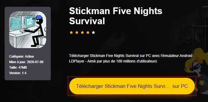 Installer Stickman Five Nights Survival sur PC