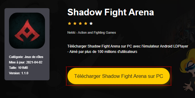 Installer Shadow Fight Arena sur PC