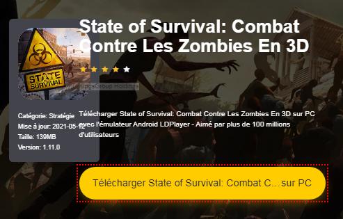 Installer State of Survival: Combat Contre Les Zombies En 3D sur PC