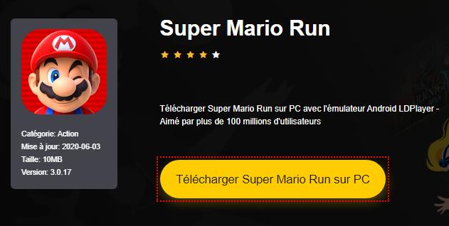 Installer Super Mario Run sur PC