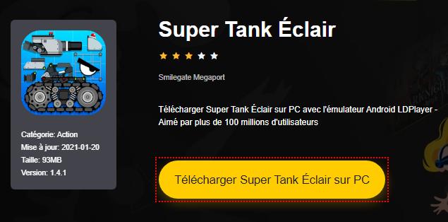 Installer Super Tank Éclair sur PC
