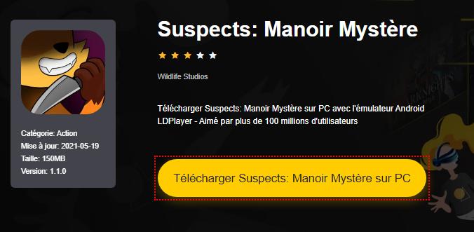 Installer Suspects: Manoir Mystère sur PC