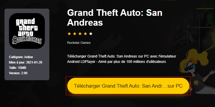 Installer Grand Theft Auto: San Andreas sur PC