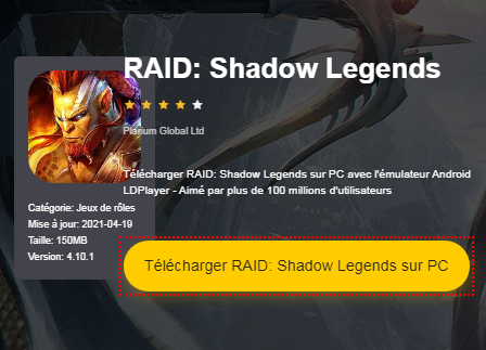 Installer RAID: Shadow Legends sur PC