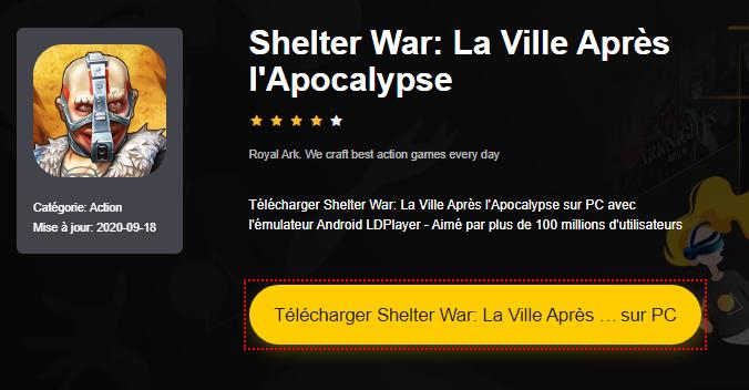 Installer Shelter War: La Ville Après l'Apocalypse sur PC