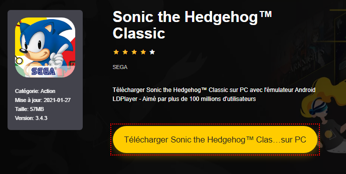 Installer Sonic the Hedgehog™ Classic sur PC