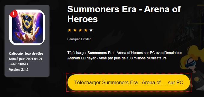 Installer Summoners Era - Arena of Heroes sur PC