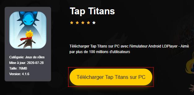 Installer Tap Titans sur PC