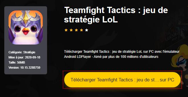 Installer Teamfight Tactics : jeu de stratégie LoL sur PC