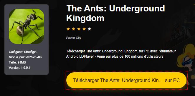 Installer The Ants: Underground Kingdom sur PC