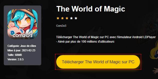 Installer The World of Magic sur PC